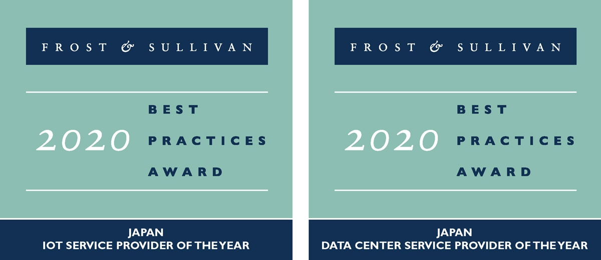 2020 Japan IoT Service Provider of the Year / 2020 Japan Data Center Provider of the Year