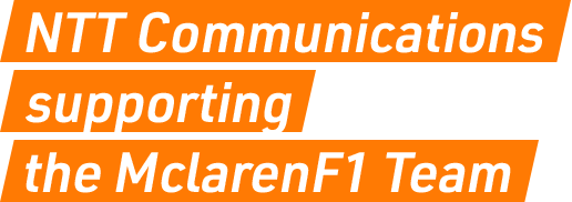 NTT Communications supporting the Mclaren F1 Team