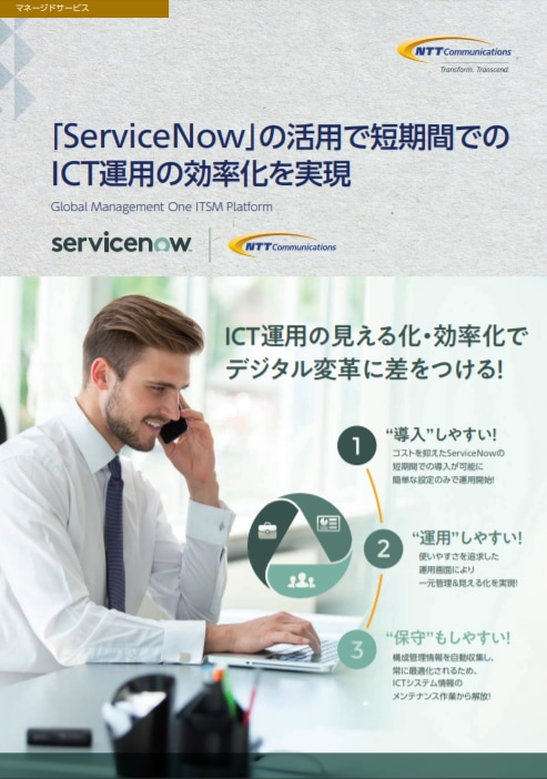 「Global Management One ITSM Platform」パンフレット
