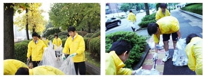 Cleaning the streets in Chiyoda
